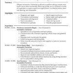 Mechanic Resume Templates