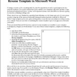 Microsoft Office Resume Templates 2007