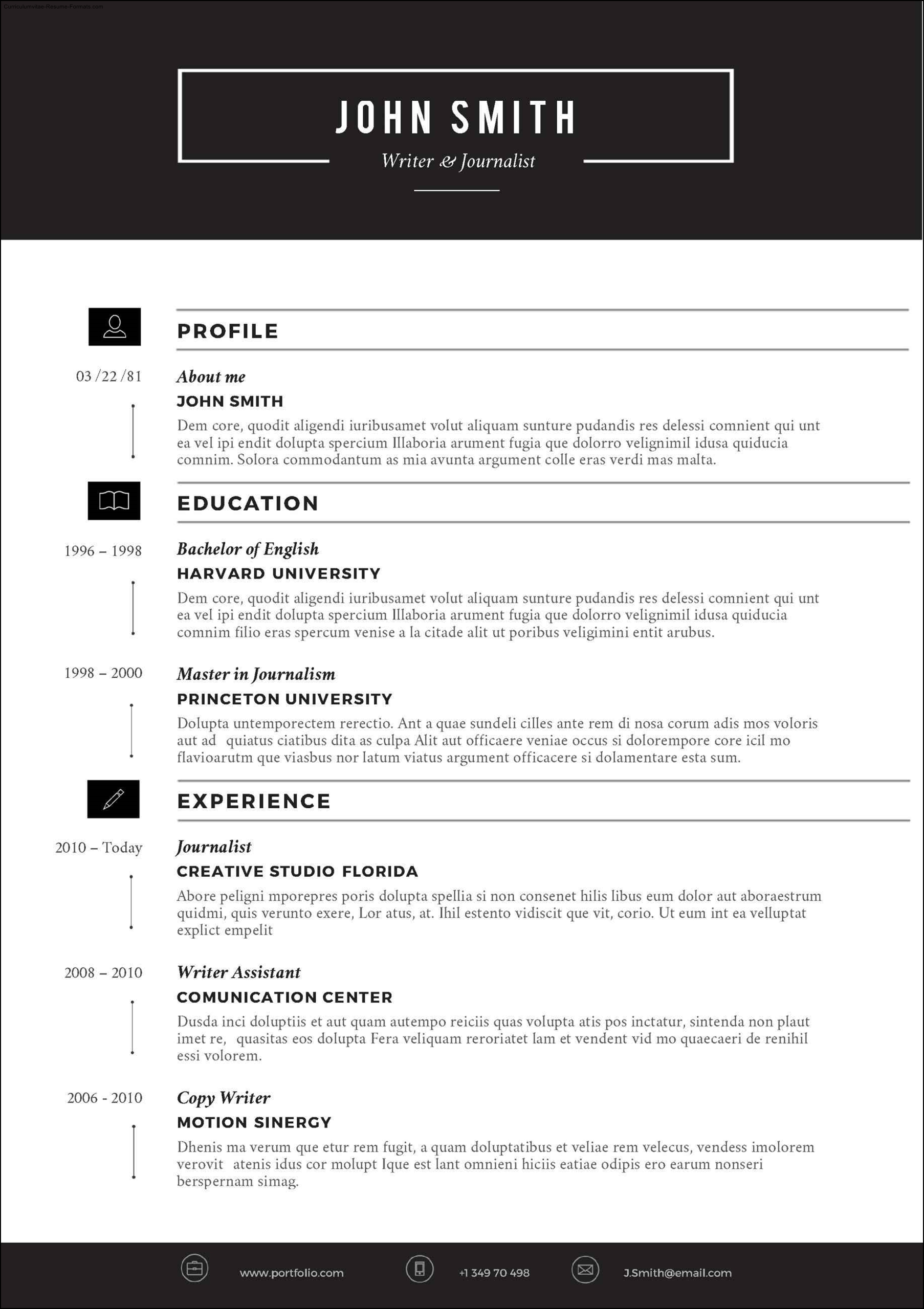 Microsoft Resume Templates 2012 Free Samples