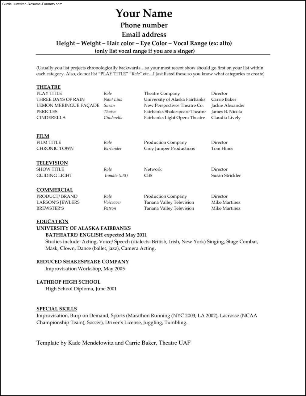 Making Resume In Microsoft Word