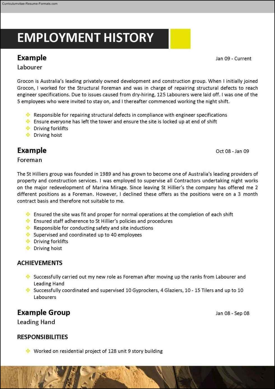 mining resume templates  free samples  examples  format
