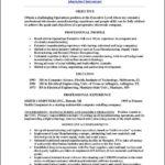 Model Resume Template