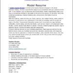 Model Resume Templates