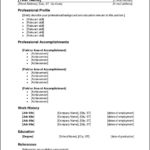 Ms Office Resume Templates 2010