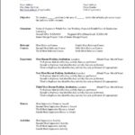 Ms Word Resume Templates Free