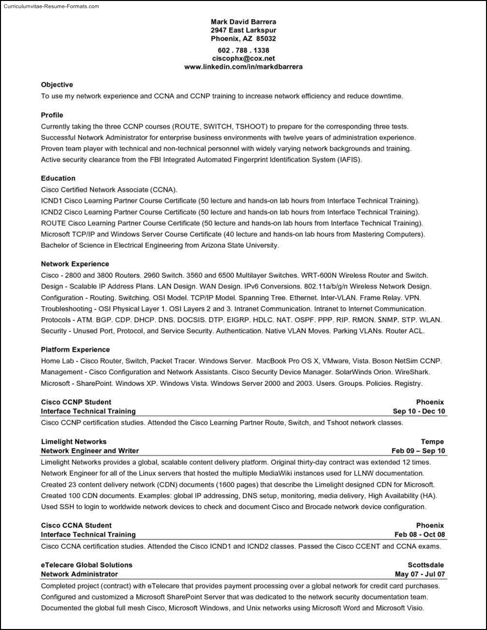 Network Administrator Resume Sample retail district manager resume
