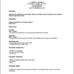 No Job Experience Resume Template