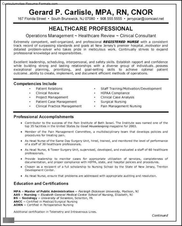 nursing resume templates free downloads