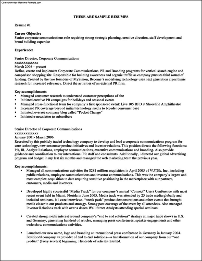 Objective Resume Template