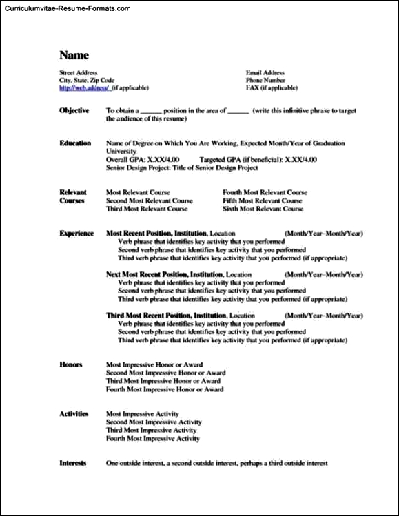Office 2010 Resume Template