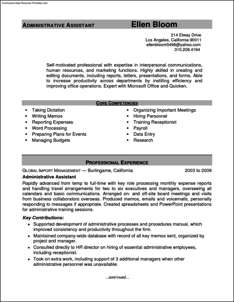 Office Assistant Resume Template
