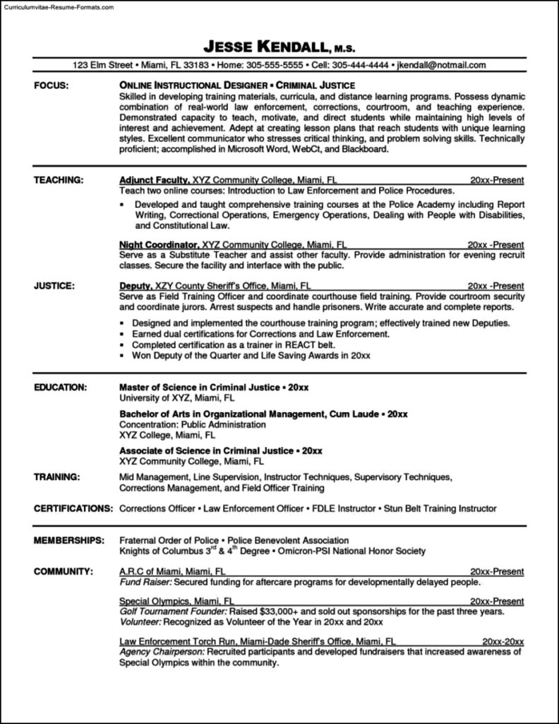Online Resume Template Free