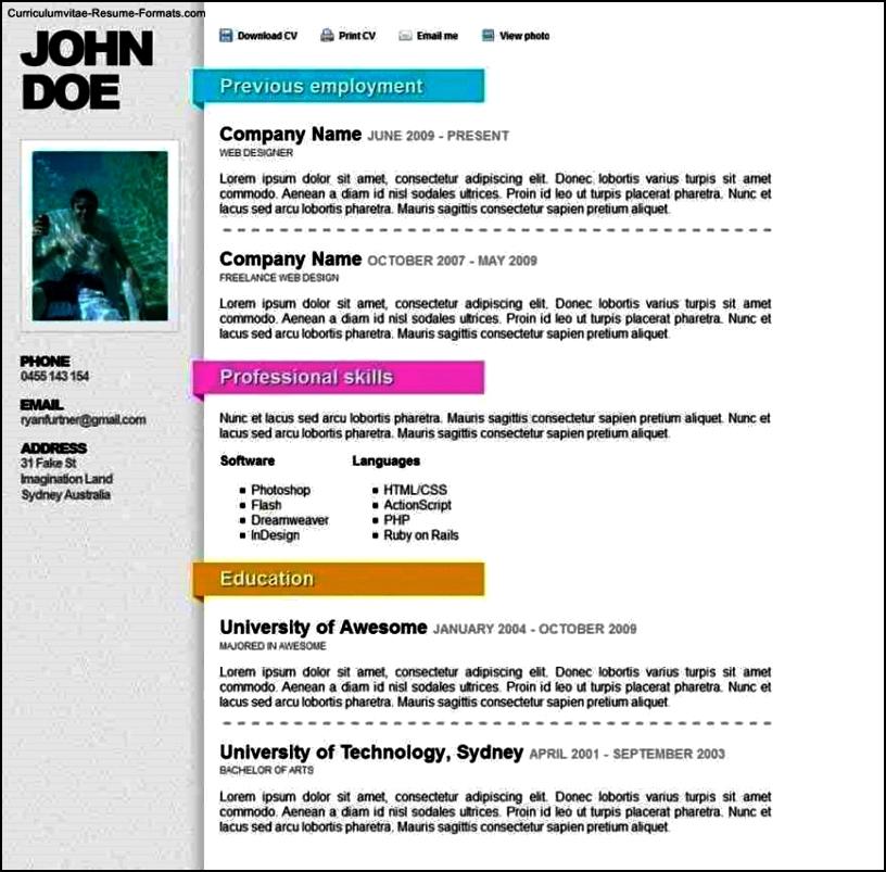 Online Resume Templates