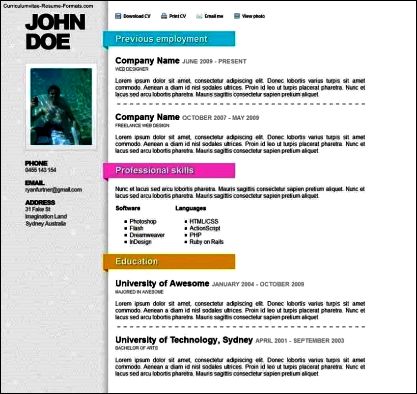 Online Resumes Templates