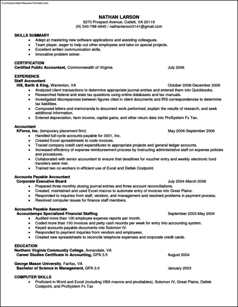 Open Office Resume Templates Free