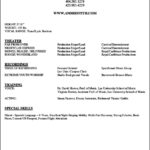 Performing Arts Resume Template