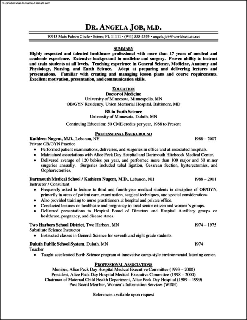 physician resume template doctor resume templates 15 free sles