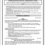 Principal Resume Template