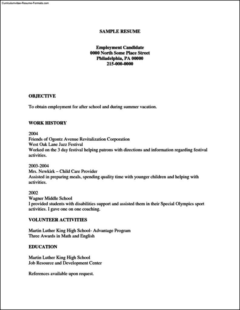 Printable Free Resume Templates