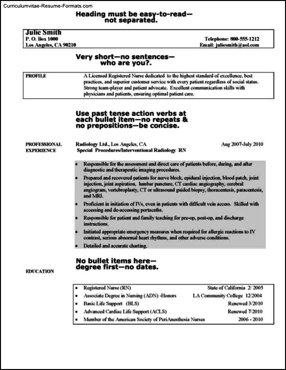 Professional Nursing Resume Template