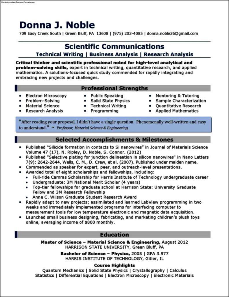 Resume examples 2013
