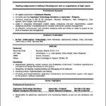 Profile Resume Template