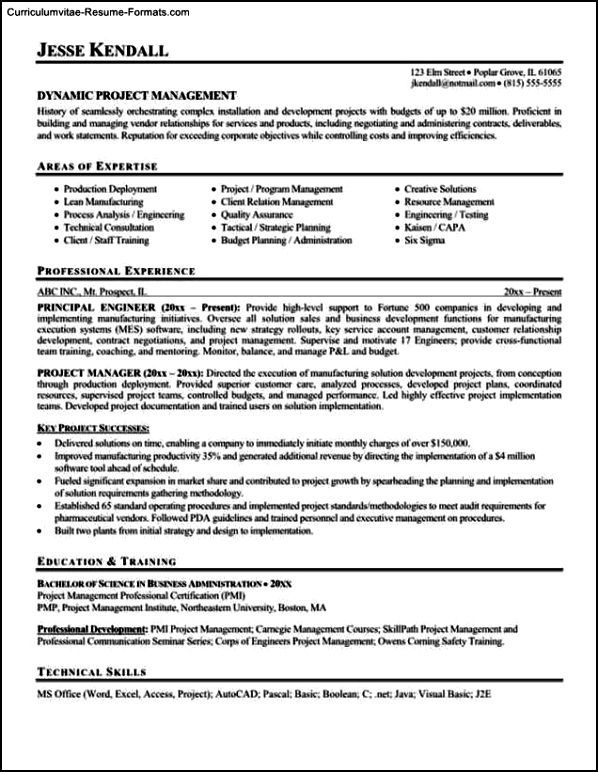 Sharepoint Project Manager Resume