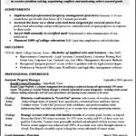 Property Management Resume Template