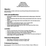 Research Resume Template