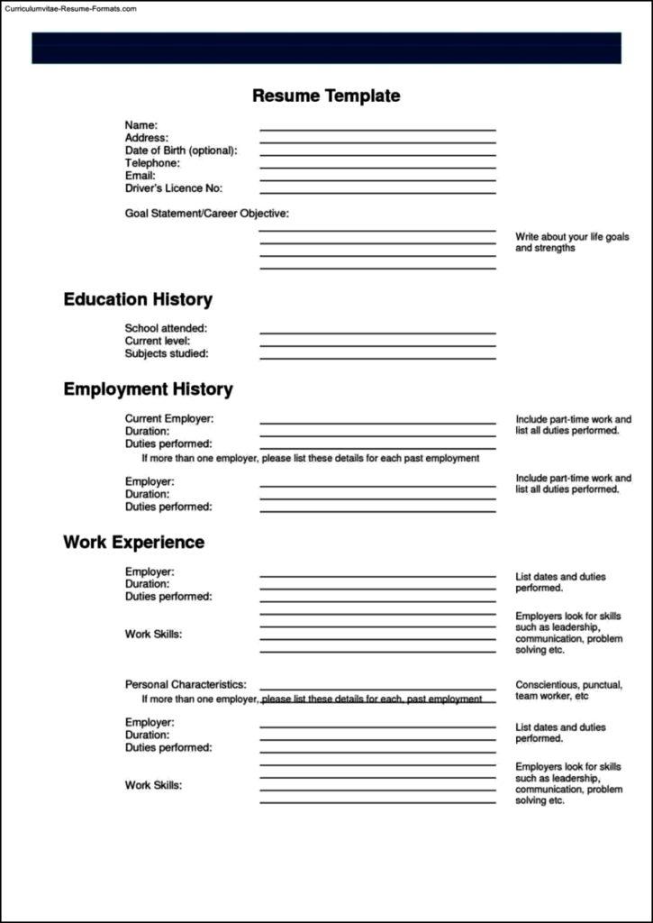 Resume Builder Template