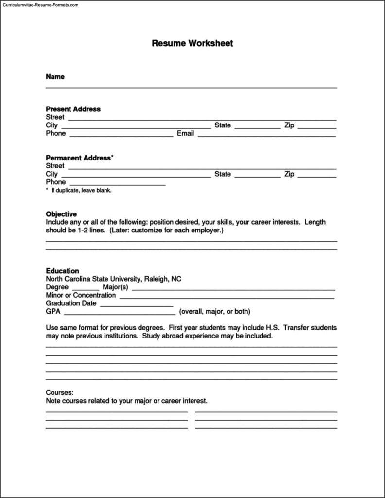 Resume Builder Template Free Download