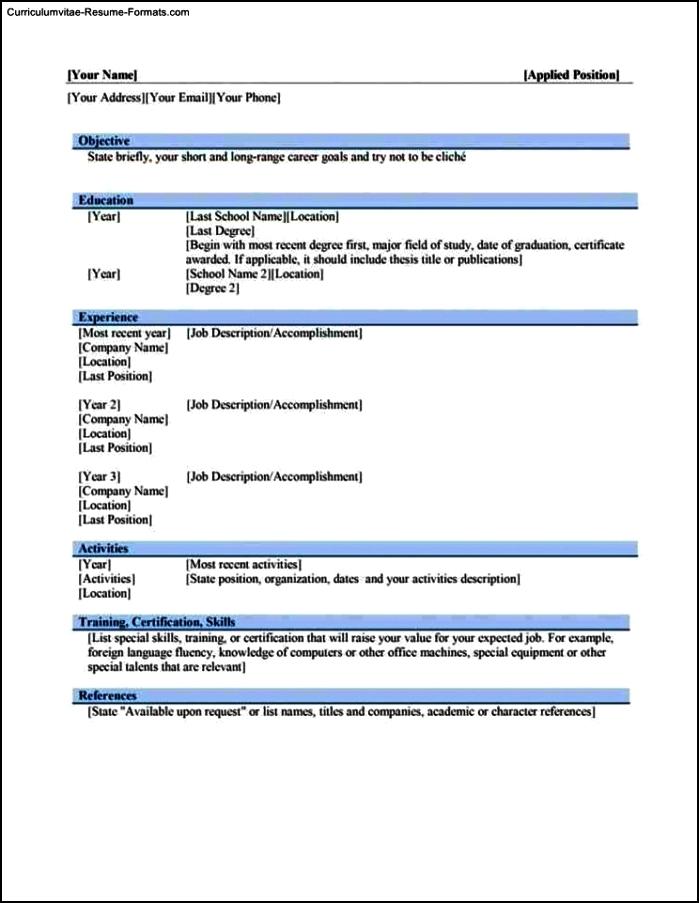 Resume Builder Templates Free