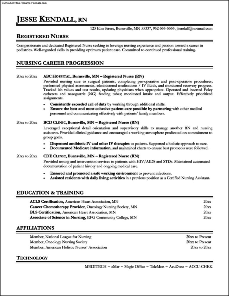 Resume Building Templates
