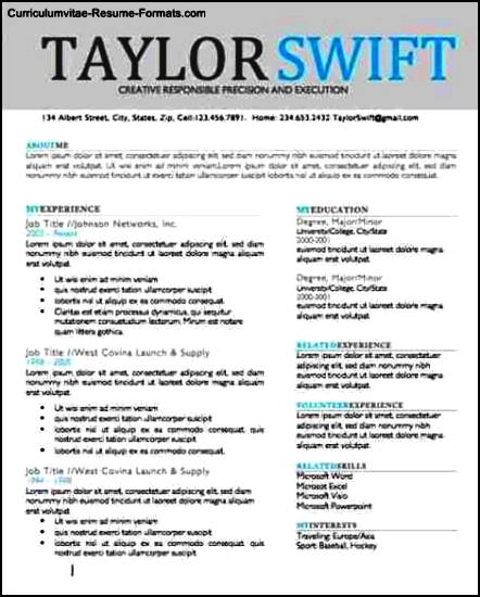 Resume Design Templates Word