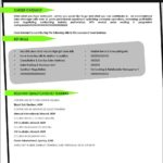 Resume Front Page Template