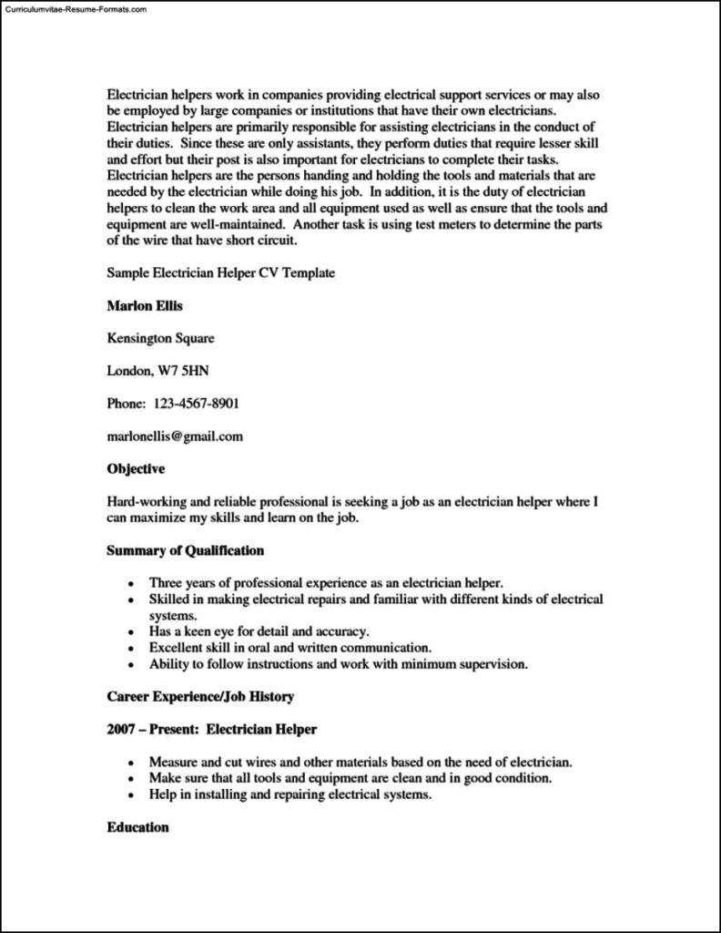 Resume Helper Template