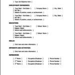 Resume Template Basic