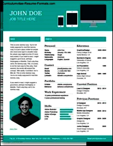 Resume Template Design Free