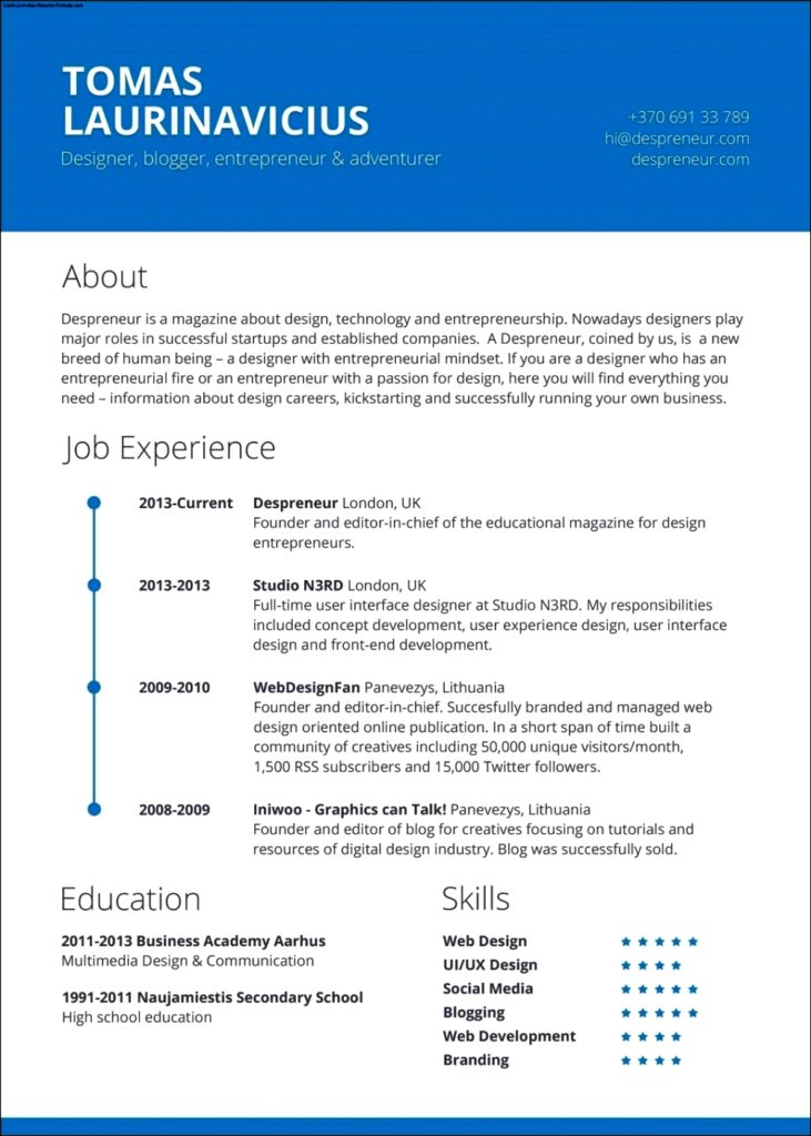 Resume Template Download Mac
