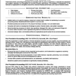 Resume Template For Accounting