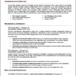 Resume Template For Administrative Position