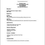 Resume Template For High School Students With No Work Experience