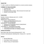 Resume Template For Recent College Graduate