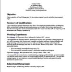 Resume Template For Retail Job