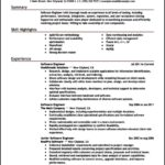 Resume Template For Software Engineer