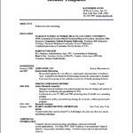 Resume Template For Teenager