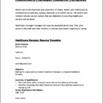 Resume Template Healthcare