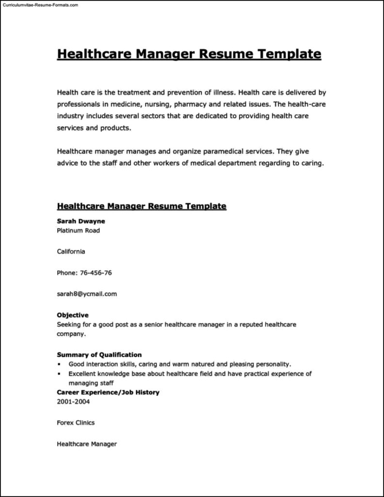 Resume-Template-Healthcare-792x1024 Curriculumvitae Internship Resume on where put, how do you add, law student,