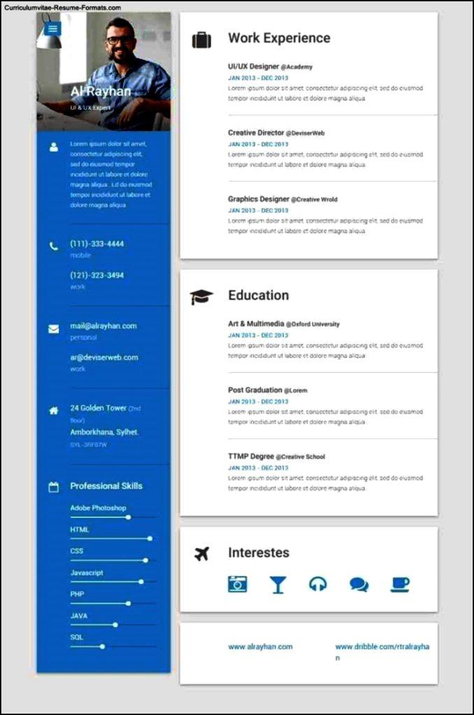 Resume Template Html