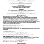 Resume Template In Spanish